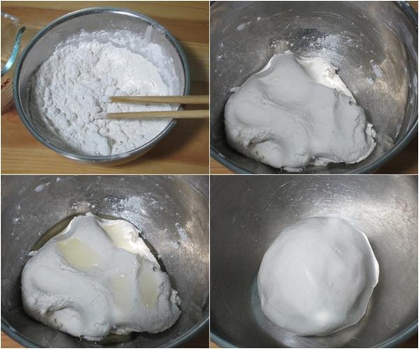 Chuẩn bị bột để làm bánh