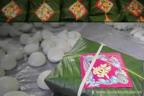 Bánh dày ngon được sử dụng trong các mâm cỗ cưới truyền thống