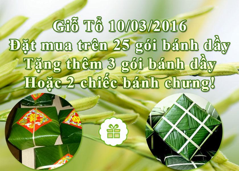 Giỗ tổ Hùng Vương 10/03/2016 cùng cửa hàng Bánh Dầy Ngon