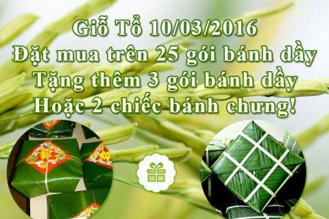 Giỗ tổ Hùng Vương 10-03 cùng cửa hàng Bánh Dầy Ngon